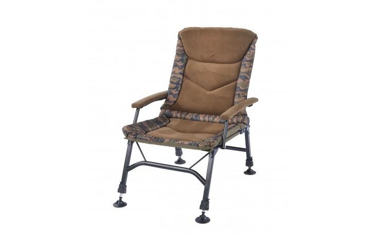 Balzer Camou Angelstuhl mit Armlehne, Sitzbezug Carpchair für Angler & Karpfenangler
