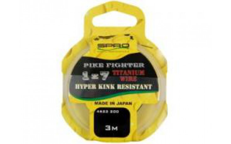 Spro Pike Fighter Titanium Wire 1x7 Titaniumvorfach 13,6 kg 3 Meter Raubfischvorfach Hechtvorfach