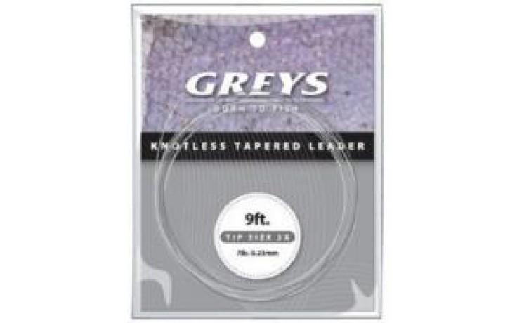Hardy Greys Greylon Fliegenvorfach GKTL04- 0,20 mm 3X Spitze