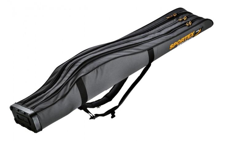 1,25 m Rutenfutteral Hardcase 3-Fächer Sportex Super-Safe Rutentasche