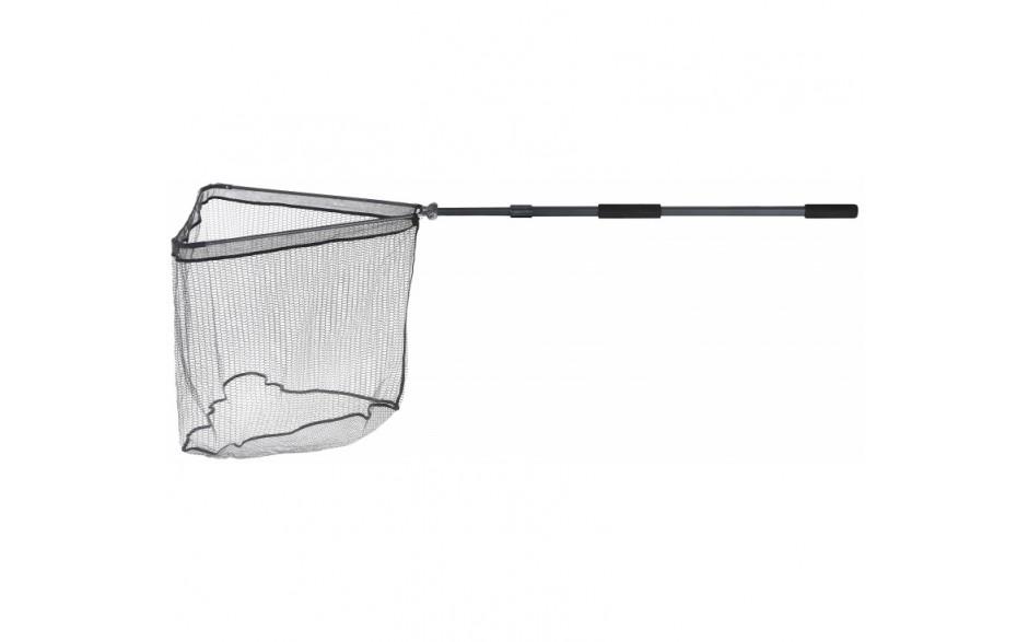 Balzer Metallica Kescher XTra Strong Unterfangkescher 2teilig teleskopierbar 2,2 Meter Armlänge 70 cm gummiertes Keschernetz