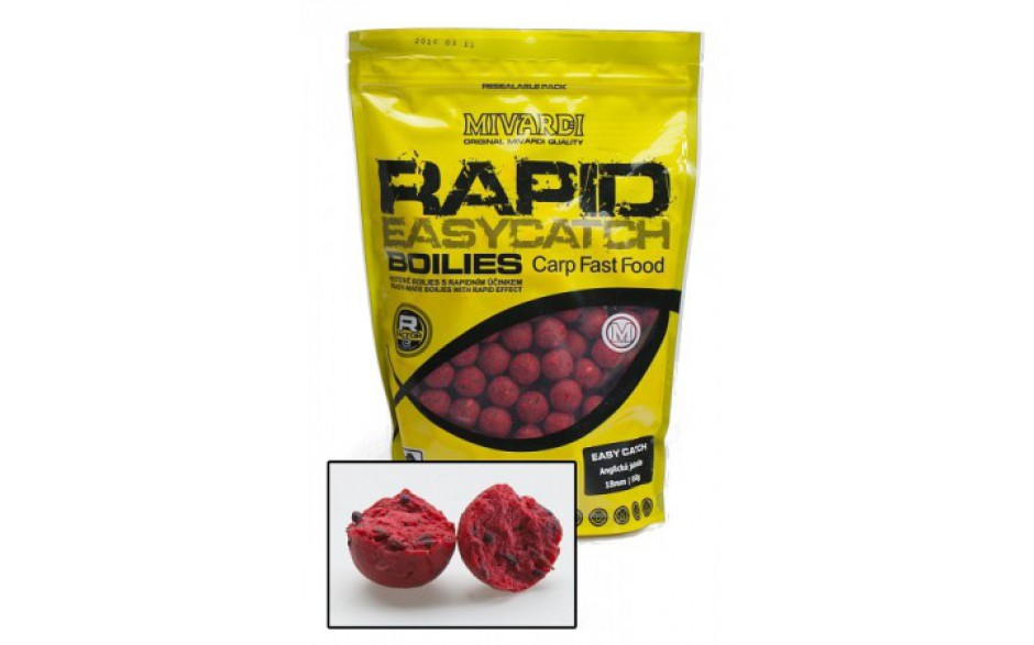 Mivardi Boilies Rapid Easy Catch Boilies 950 Gramm 18 mm Erdbeere