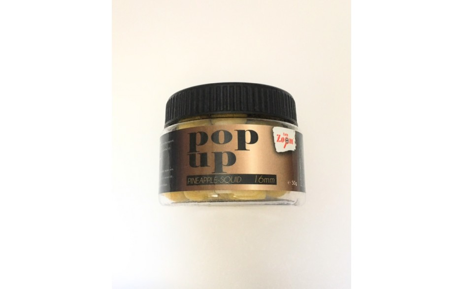 Pop Up Boilies Carp Zoom Pineapple Squid 16 mm 50 Gramm