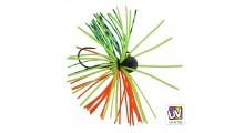 Jenzi Micro Skirted Jighaken 5 Gramm Farbe orange grün Hakengröße 2