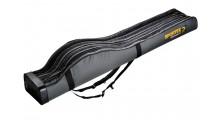 Sportex Super Safe 1,65 Meter mit 4 Fächer für 4 Angelruten Farbe grau mit 2 Trageriemen