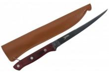 Specitec Filetiermesser Nordland II Specialist Filetier Messer mit Lederscheide 18,5 cm Klinge 31,5 cm Gesamt