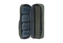 Anaconda Freelancer Work Pouch 1 mit 4 Tackle Boxen und einem Rig Carrier Außentasche: 20 x 10 x 2 cm