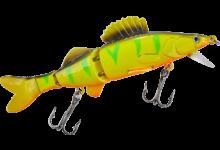 Balzer Shirasu Zander Thunder Orange Fire Tiger Wobbler 11 cm 12 Gramm 3teilig schwimmend 1 Meter Tauchtiefe