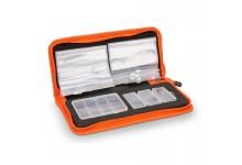Angelzubehör Multi Organizer mit Vorfachtaschen und Boxen für Angelhaken und Angelwirbel 30 * 13 * 5 cm