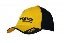 Sportex Base Cap gelbes Schild, schwarz hinten  Baseballcap von Sportex