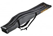 Sportex Super Safe 1,75 Meter mit 3 Fächer für 3 Angelruten Farbe grau mit 2 Trageriemen