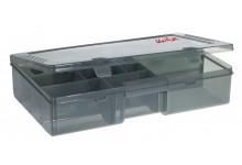 Angelbox für Angelzubehör 35,5 * 22,5 * 8 cm sehr stabile Angel Köder Box und Angelzubehörbox